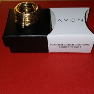 Goldtone size 8 ring